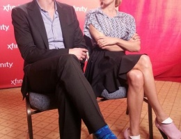 James and Chloe at the Winter 2014 TCA  Press Tour