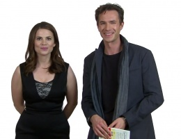 Hayley Atwell & James D'Arcy Speed Read for First Book