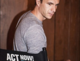 James D'Arcy takes his seat to support his drama school